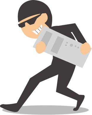 盗難の恐れ