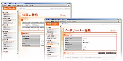 Webブラウザベースの専用管理インターフェイス