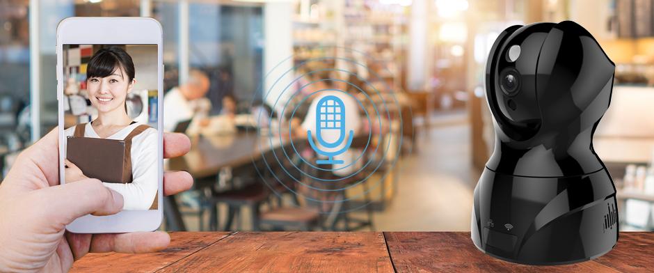 双方向通話が可能なため、映像を確認しながら、音声発信をする事が可能です
