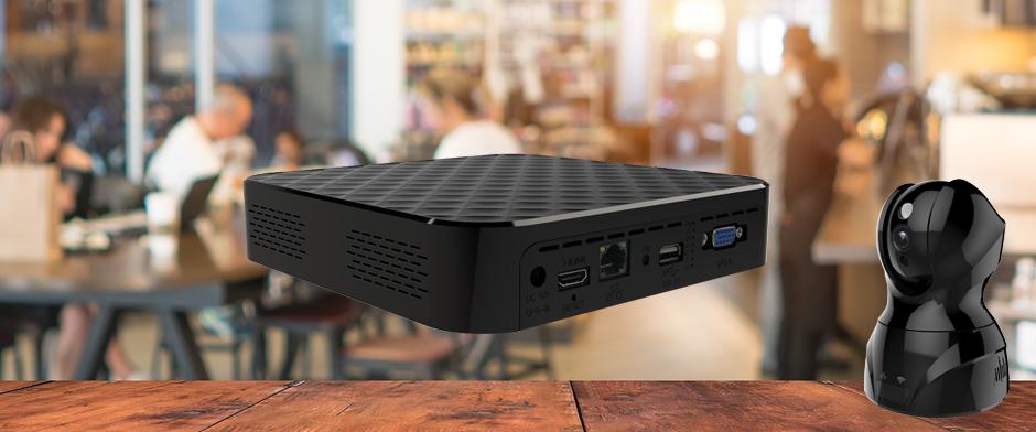 AT1-NVRが同一セグメントにあれば、らくらくカメラの映像を自動保存が可能